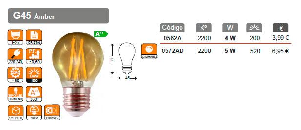 serie filamento amber g45