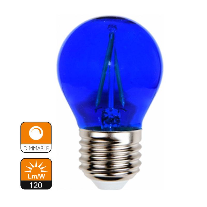 L mpara de filamento g45 colores cristal e27 2w - Lamparas de cristal de colores ...