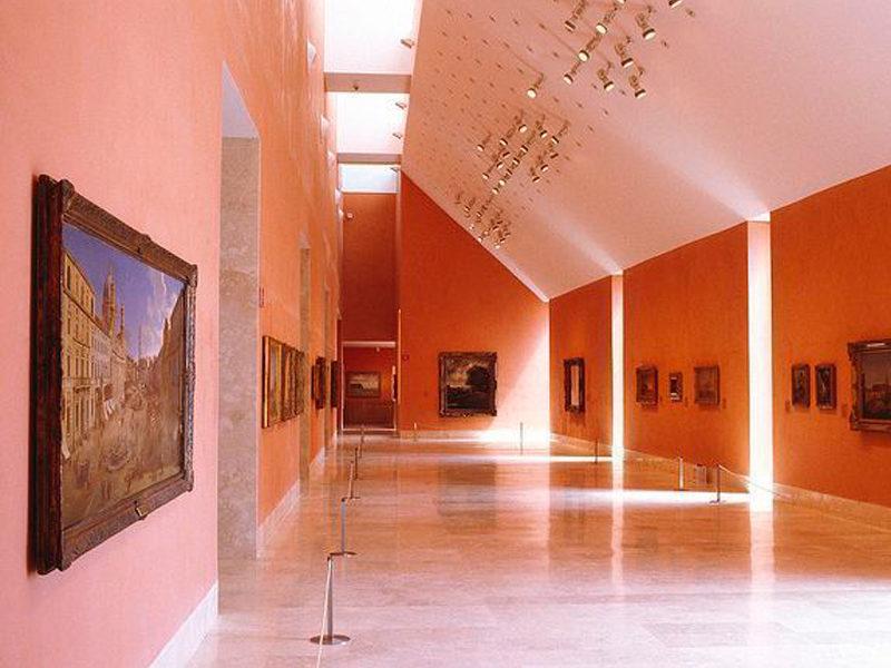 iluminacion led en el museo thyssen