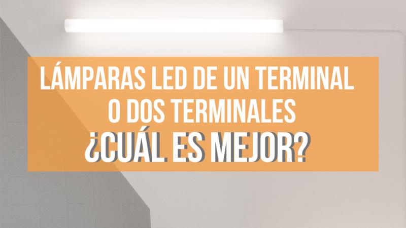 lámparas led de un terminal o dos terminales